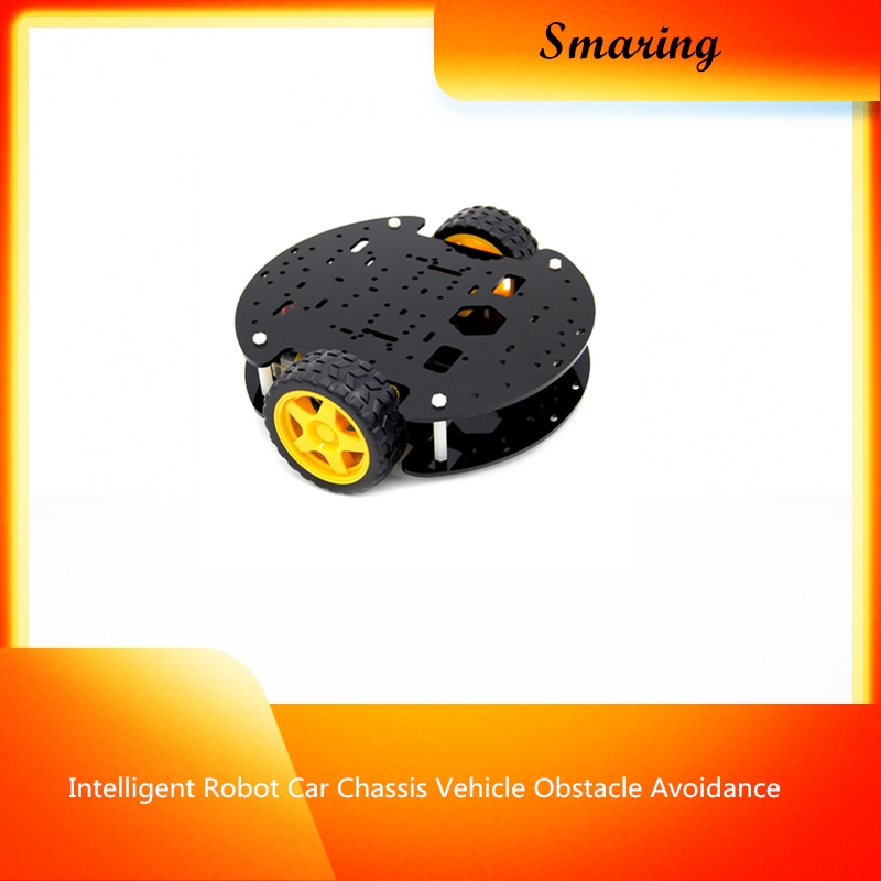 Intelligent Robot Car Chassis Vehicle Obstacle Avoidance Tracking Robotic Model With Velocity Detecting For Arduino DIY Rc Toy