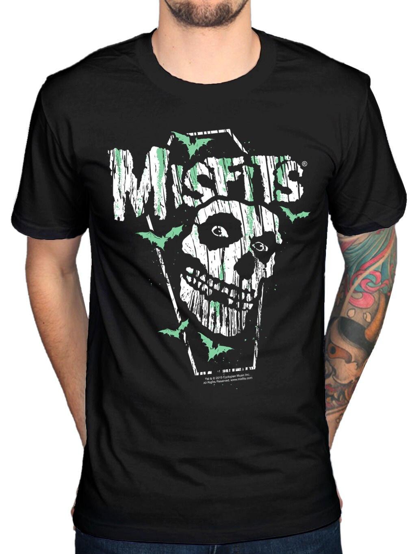 Oficial desfits caixão t camisa nova merch horror punk caminhada entre nós mortos homem adulto magro ajuste t camisa s xxxl impressão t camisa
