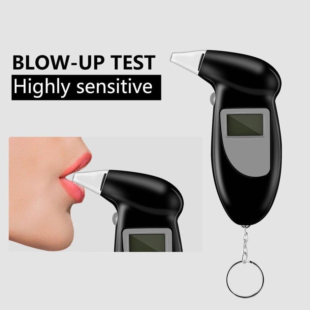 2020 profissional testador de respiração álcool bafômetro detector teste chaveiro bafômetro breathaliser devicelcd tela