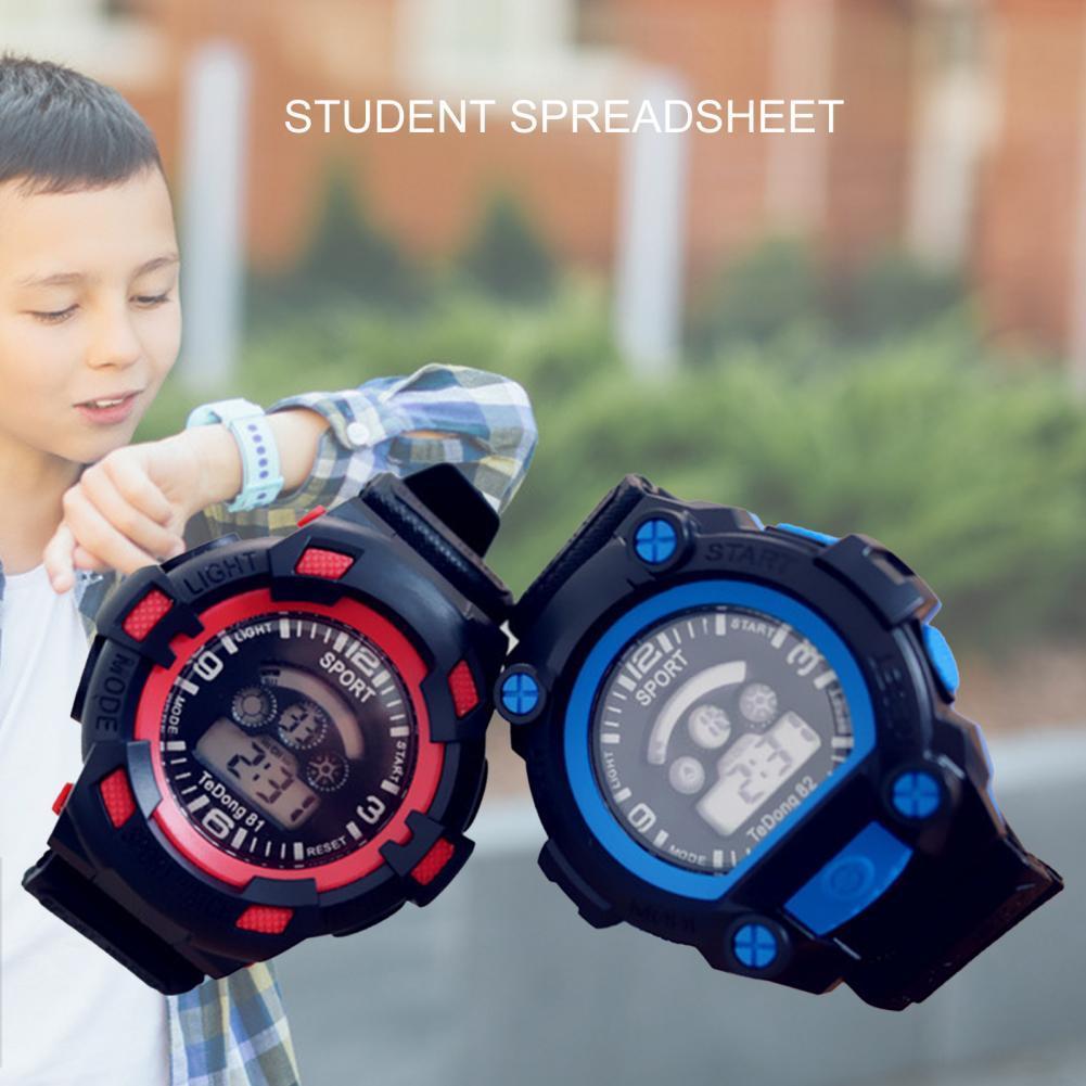 Silicone smart watch for kids watch Waterproof Children's Digital Watch Electronic Watch Sports Wris