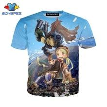 Anime 3d nadruk, game t shirt hip hop dj streetwear mężczyźni made in abyss moda damska koszulka Harajuku dla dzieci koszule homme tshirt A168