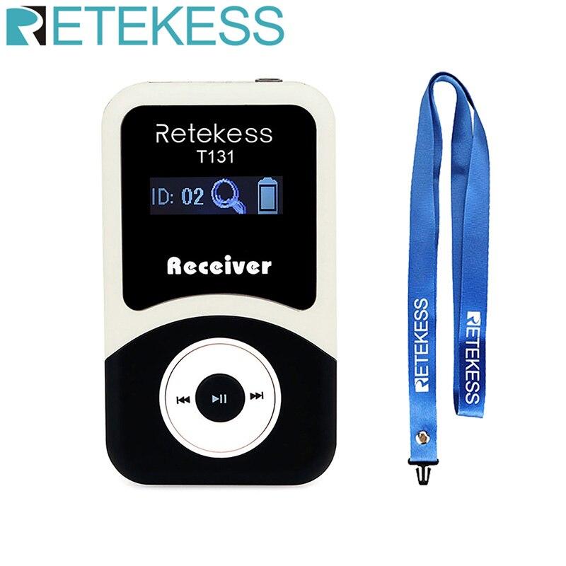 Беспроводной приемник Retekess T131 для системы гида, система синхронного перевода, система обучения, для совещаний