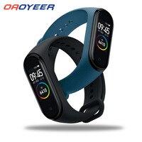 Смарт-часы M4, водонепроницаемый браслет с монитором кровяного давления и сердечного ритма, смарт-браслет, совместим с Bluetooth