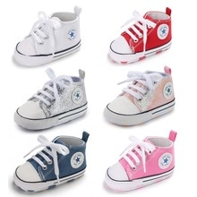Baby Shoes Boy Girl Star Solid Sneaker Cotton Soft Anti-Slip Sole Newborn Infant First Walkers Toddl