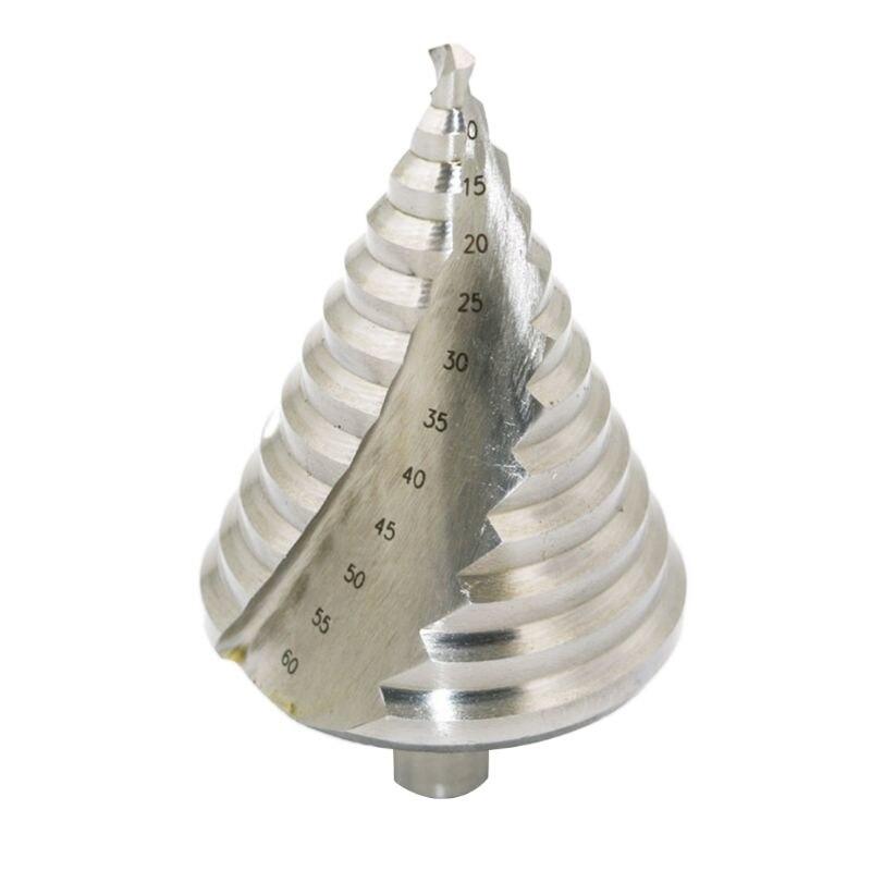 6-60mm Pagoda broca cónica escalonada HSS espiral ranurado escariado agujero herramienta de corte Longitud aprox. 106mm