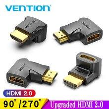 Vention-adaptador HDMI de ángulo recto de 90 grados, convertidor de Cable macho a HDMI hembra para HDTV, PS4, PS5, portátil, 4K