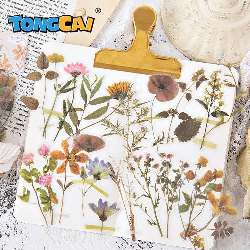 40-pz-pacco-20-disegni-carino-fiore-adesivi-pallottola-ufficiale-pet-trasparente-autoadesivo-decorazione-vegetale-coreano-adesivi-cancelleria-adesivi-per-laptop-adesivi-per-album-adesivi-dipinti-a-mano-fai-da-te-adesiv