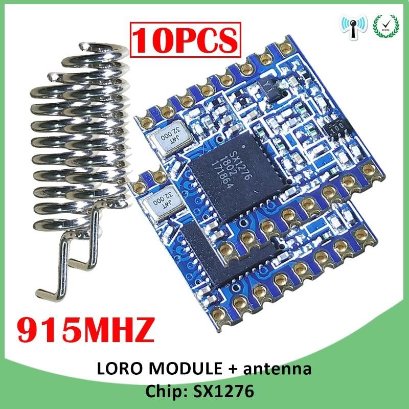 10PCS 915MHz RF LoRa module SX1276 chip super low power lorawan Long-Distance communication Receiver Transmitter SPI IOT antenna