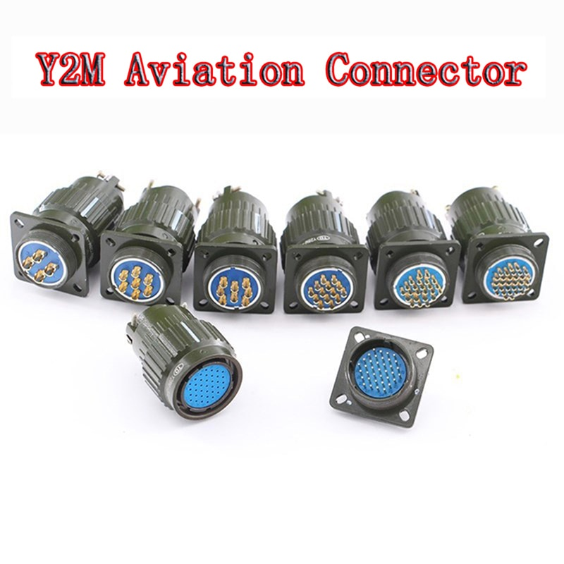 Y2M-موصل قابس طيران عسكري ، إبزيم سريع ، لون أخضر ، أنثى YP28 ، موصل XLR ، 4-37 دبوس ، توصيل طاقة متاح