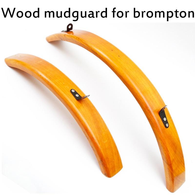 Aceoffix para bicicleta plegable Brompton, guardabarros de madera