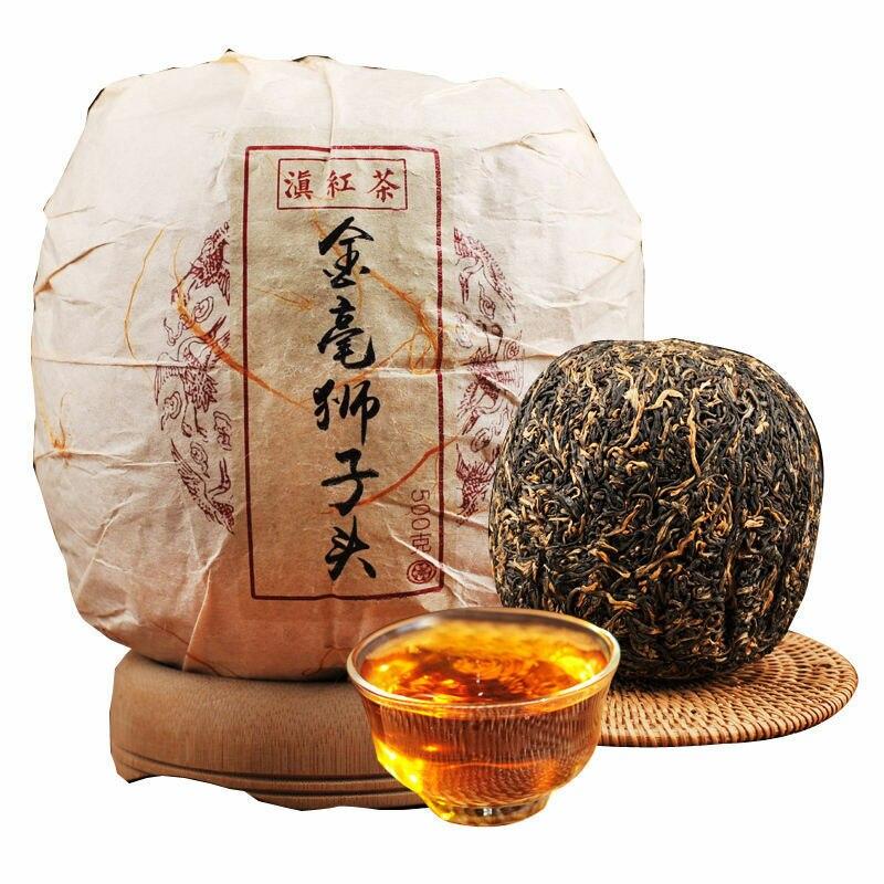 شاي صيني أسود ، براعم ذهبية ، ديان هونغ يونان ، فينج تشينغ ، بطيخ ذهبي ، ديانهونغ ، 2019 جرام ، 500