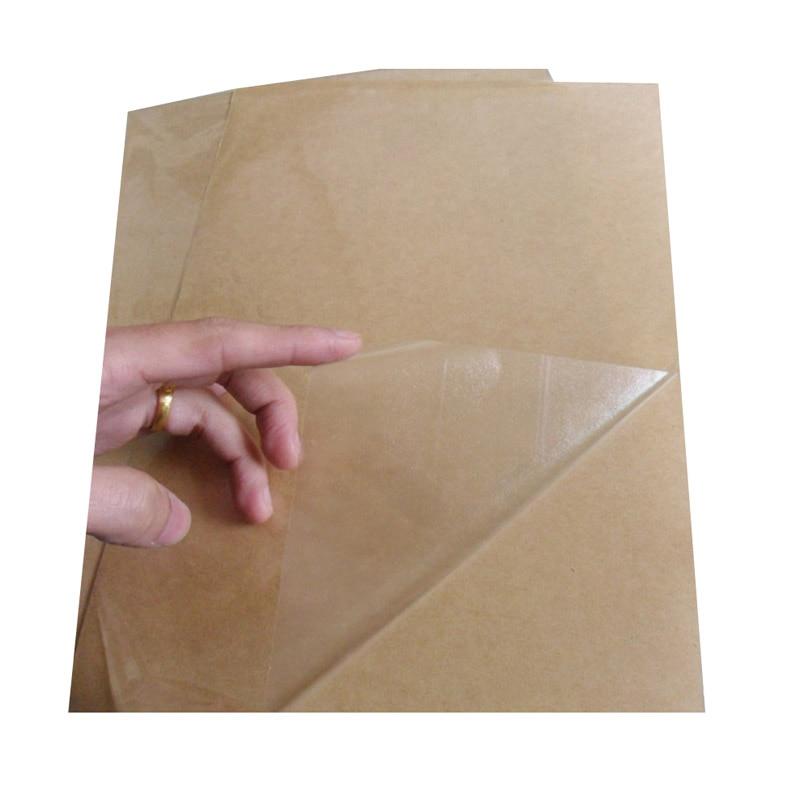 Самоклеящаяся наклейка А4, прозрачная/прозрачная бумага для этикеток ПЭТ для лазерного принтера или используется для ламинирования пленки