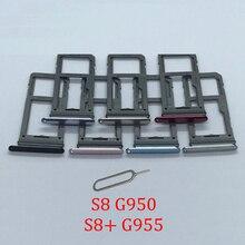 Phone SIM Card Tray Slot For Samsung Galaxy S8 G950F G950FD G950 Original New SIM Chip Micro SD Card