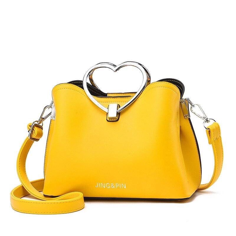 dm prime fênix bolsa de couro amarela