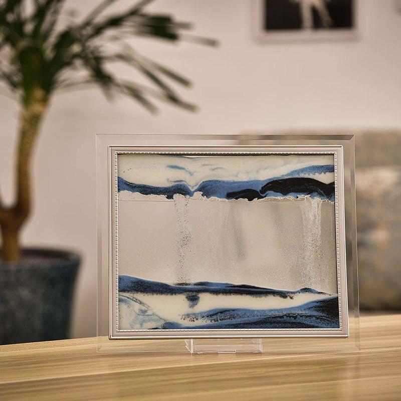 Marco de cristal transparente con pintura de arena, dinámico 3D, paisaje de dibujo HYD88