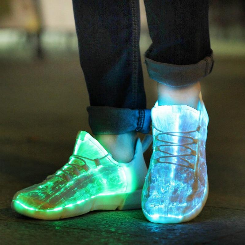 الصيف Led أحذية عيد الميلاد مضيئة زي الرقص ضوء زي أحذية شحن USB توهج أحذية رياضية ليلة احذية الجري