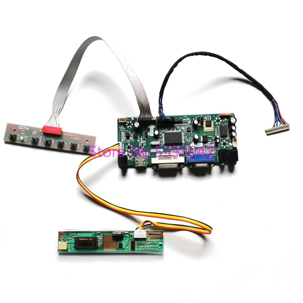 "Para B121EW03 V.0/V.1/V.2/V.3/V.4/V.5 LCD panel 1 inversor CCFL LVDS 20-Pin 1280*800 de 12,1 ""M NT68676 monitor Kit de placa controladora"
