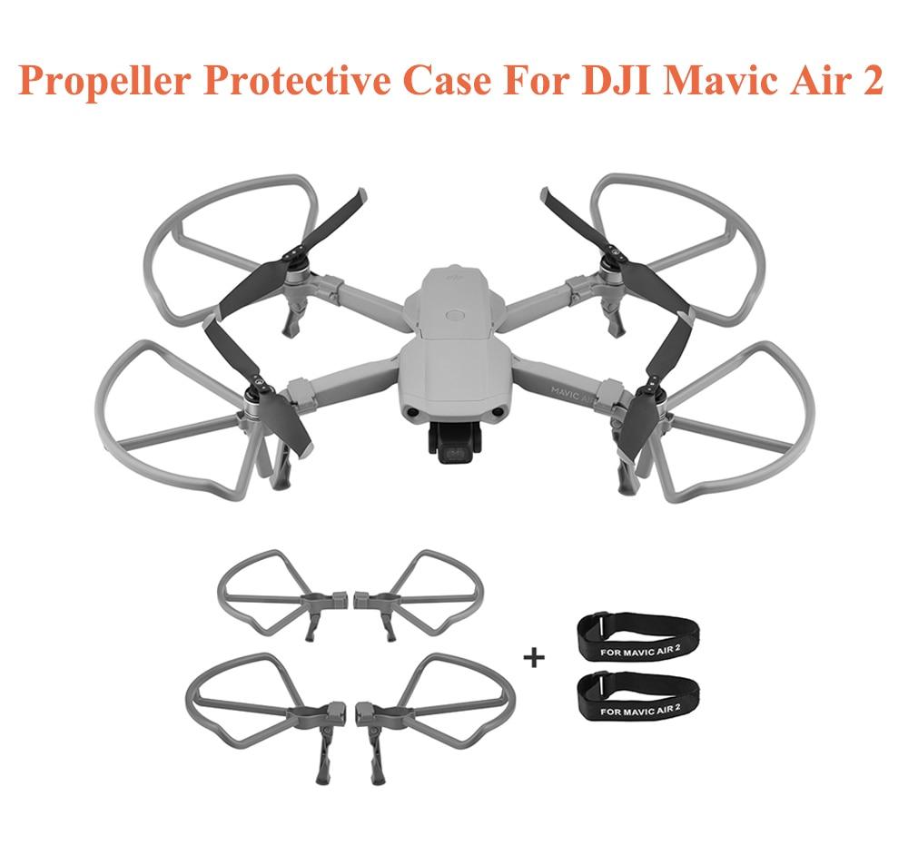 4 pçs hélice capa protetora caso anel guardas lâmina + 2 pçs liberação rápida drone hélice lâminas titular para dji mavic ar 2