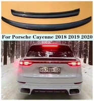 new high quality carbon fiber rear trunk lip spoiler roof spoiler wing fits for porsche cayenne 2018 2019 2020
