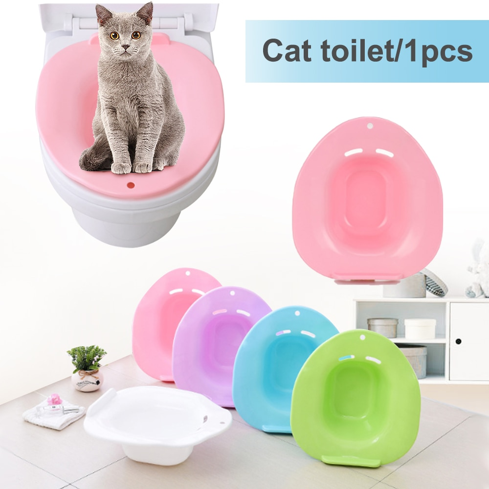 1 pc plástico portátil pet cat toalete treinamento kit cat potty bandeja não-tóxico limpeza pet toalete para gato pequeno cão