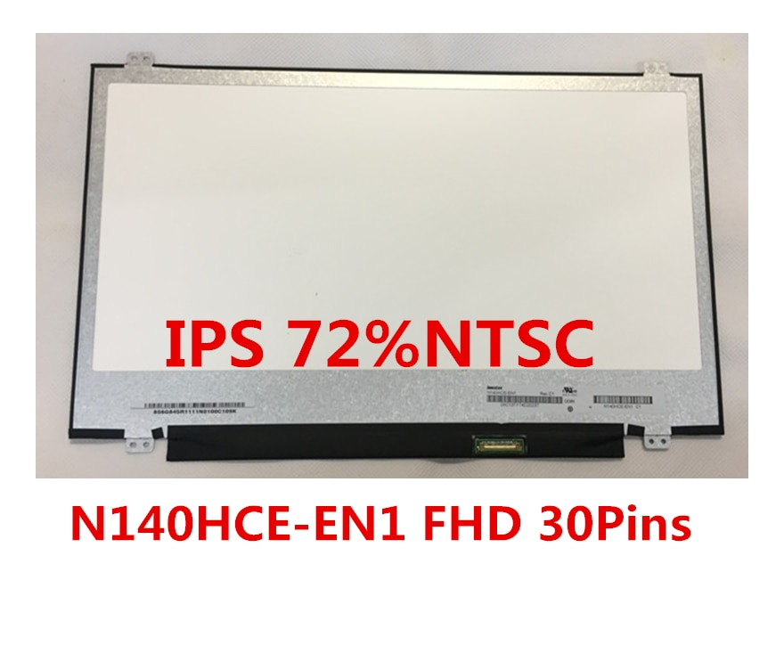 Envío gratis de 14 pulgadas LCD LED panel modelo exacto N140HCE-EN1 Rev C2 IPS 72% NTSC FHD 30 pines