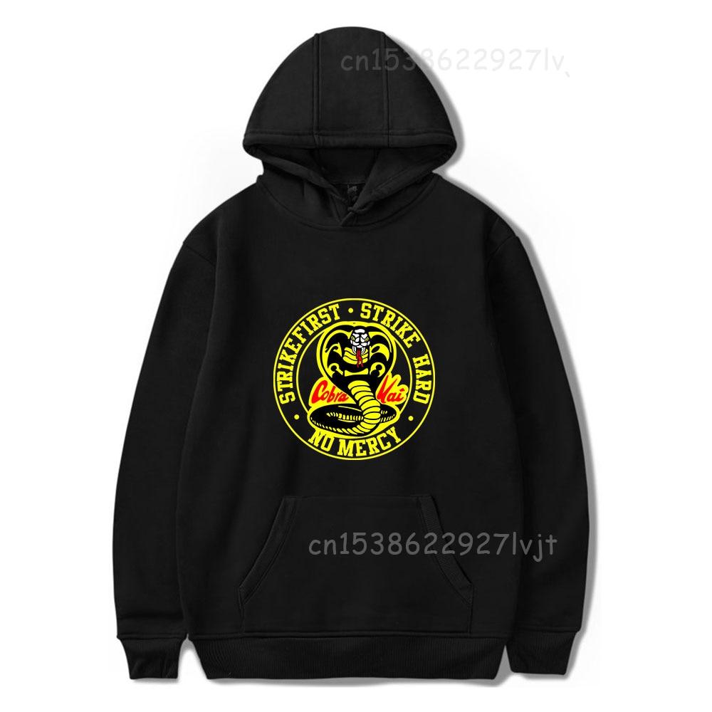 New Cobra Kai Hoodies Women Sweatshirts Harajuku Hip Hop Hoody Cobra Kai Boys Girls Autumn Hooded Casual Black Ullovers
