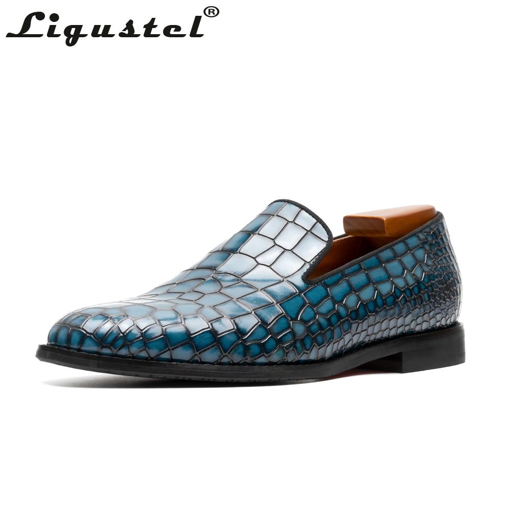 أحذية جلد التمساح للرجال ، أحذية موكاسين يدوية عالية الجودة ، بدون أربطة ، نعل أحمر ، لحفلات الزفاف والأعمال الرسمية بمقدمة مدببة