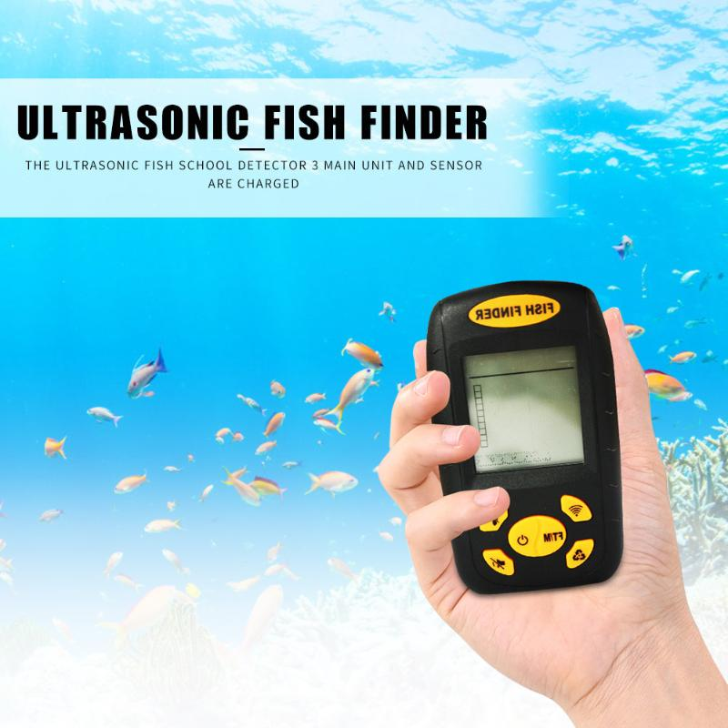 Venda quente inventor de peixes design delicado portátil sem fio sonar sensor sonar alarme acessórios pesca