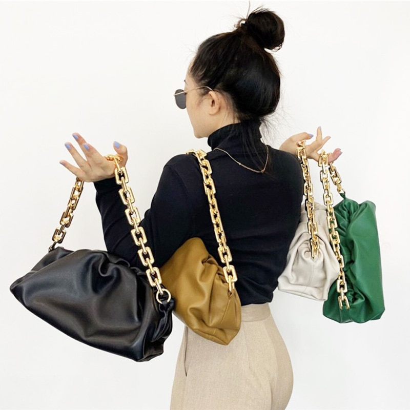 Bag For Women Cloud Pouch Soft Leather Madame Handbag Single Shoulder Slant Dumpling Bag Retro Purse Women Clutch Crossbody Bag