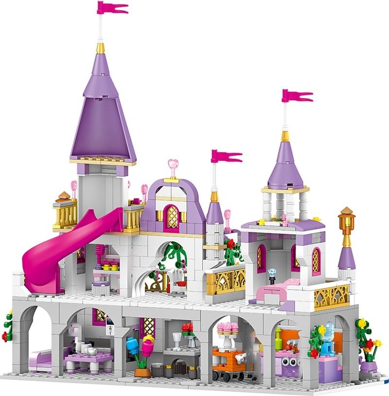 Серия принцесс зачарованный дворец модели строительные блоки модель