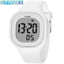 SYNOKE enfants montres sport enfants montre-bracelet filles garçons cadeau hommes horloge Silicone bracelet LED numérique femmes montre Relogio