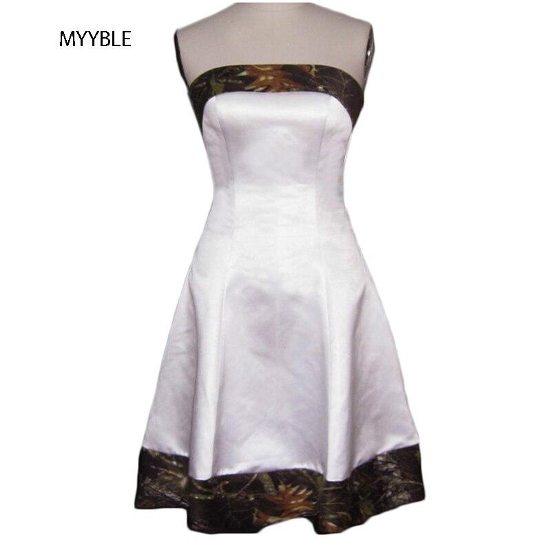 MYYBLE vestido De boda sin tirantes corto hasta la rodilla personalizado ajustable...