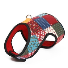 Printed Dog Harness and Leash Pet Puppy Cat Breathable Vest Jacket For Small Medium Dogs Teddy Chihu