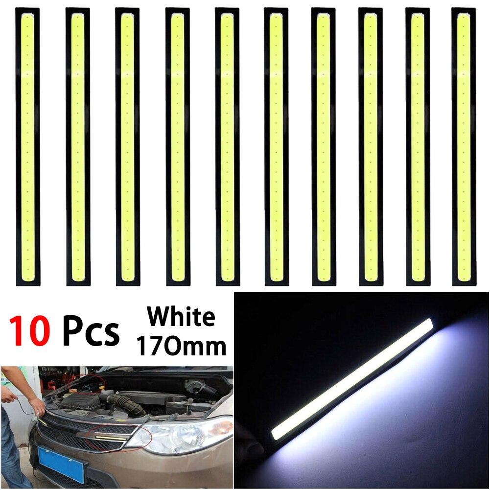 10pcs LED Daytime Running Led Lights Waterproof LED COB Car Lamps Fog Light Car Led strip Modification Lamp White led