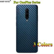 Dla OnePlus One Plus 7T 6 6T 8 Pro 3D Gradient Carbon Fiber tylna pokrywa tylna naklejka skóra telefon naklejka ochronna Film
