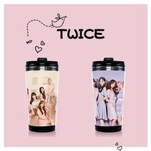 Kpop deux fois en acier inoxydable tasse à eau K-pop deux fois JungYeon Ji Hyo Mina Momo Tzuyu Double couche tasse bouteilles Fans Collection cadeaux