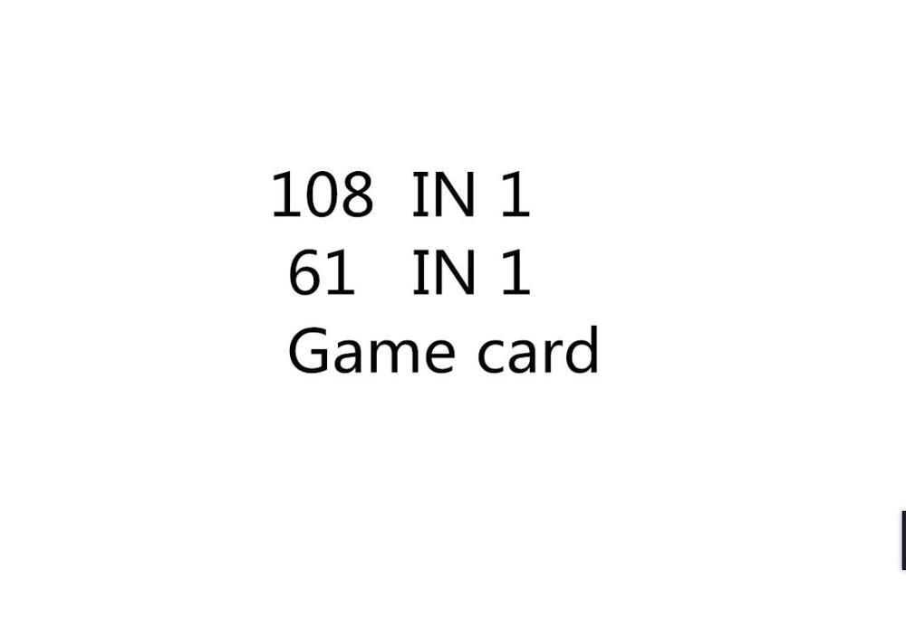 25 قطعة الجملة 108 في 1 و 61 في 1 بطاقة الألعاب ل USA Buyber