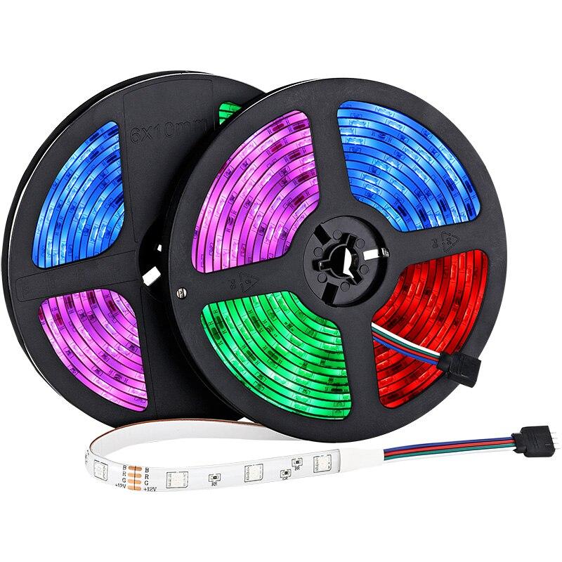 5M 10M Led strip light RGB 5050 SMD DC 12V Flexible Diode Tape LED Remote Music Sync Control