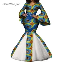 african dresses for women ladies long mermaid dress sexy v neck flare sleeve women maxi dress wedding party wy7875