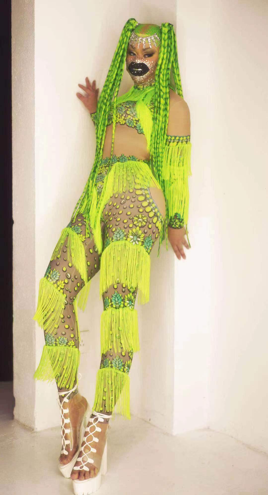 شرابات بذلة المرأة رومبير طباعة طويلة الأكمام اللاتينية ملابس رقص مثير كلوبوير ملابس الحفلات الزي مرحلة الأداء