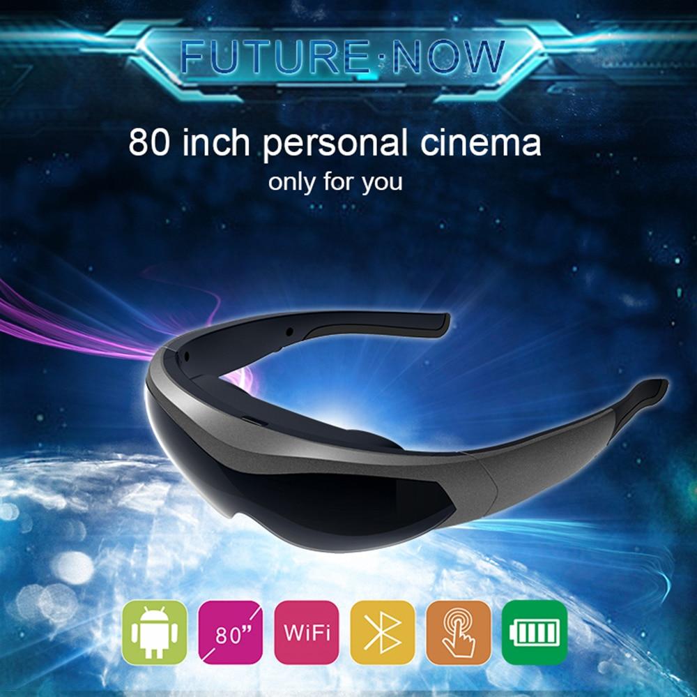 2020 جديد FPV نظارات الفيديو K600 80 بوصة شاشة رئيس شنت عرض نظارات ذكية لعبة غامرة نظام أندرويد واي فاي BT4.0