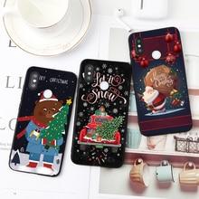 Joyeux Noël Étuis EN TPU Pour Xiaomi Mi Redmi CC9e CC9 K20 Note 7 6 8 Pro 5A 5X 9 Explorer A1 A2 Lite 6X F1 S2 5 Plus 7A 6A Cas