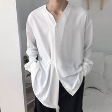 2021 Autumn New Solid Color Long-sleeved Cardigan Loose Korean Style Blouse Fashion Casual V-neck De