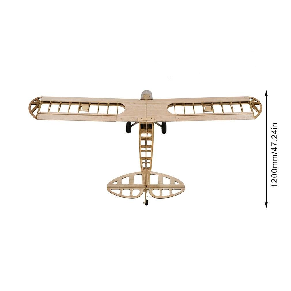 1.2M Wingspan Aircraft J3 Model Balsa Wooden Drone Plane Woodinas Model Aircraft Building Kits Model RC Drone enlarge