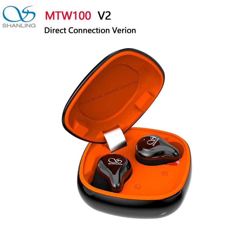SHANLING MTW100 TWS V2, auricular intrauditivo con conexión directa Bluetooth 5,0, con controlador dinámico de BA/grafeno, a prueba de agua IPX7