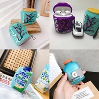 sakura iced tea drink 3d earphone cover suitable for airpods pro 1 2 charging case cover wireless earphone protection box