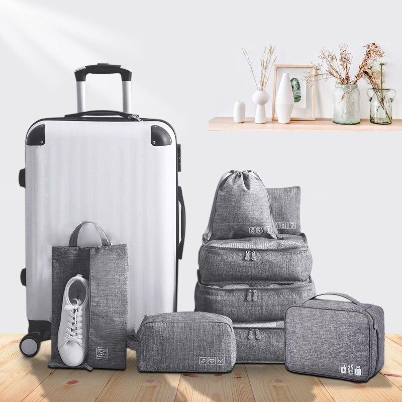 waterproof Underwear Bra Collector Zip Lock Shoe Bags Travel Set Storage Digital Cable Gadget Organizer Accessories Supplies