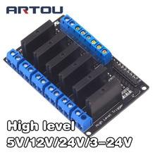 5 V/12 V/24 V/3-24 V 6 Kanal Solid State Relais Modul Hohe ebene Relais DC-AC/DC-DC PCB SSR AVR DSP für arduino Diy Kit