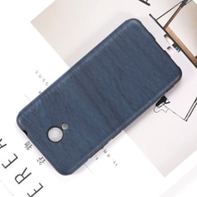 Wood grain PU Leather Phone Case For Meizu M5S Soft Silicone Case For Meizu M5S Protective Back Shel