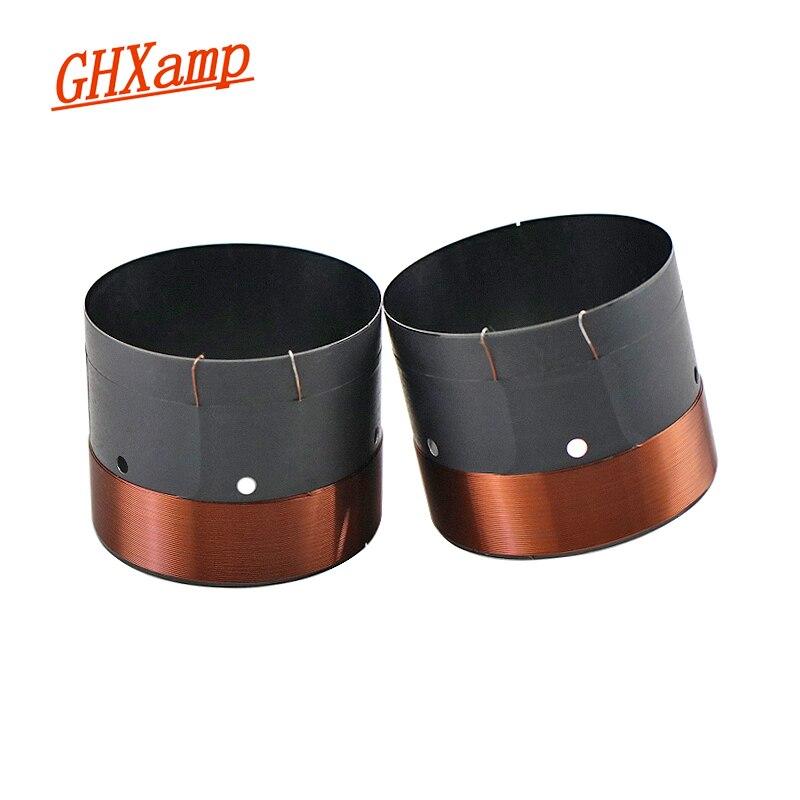"""GHXAMP 63,5 MM BASS Bobina de voz SubWoofer 8OHM Balck agujero de salida de aire de sonido de aluminio para 12 """"15"""" pulgadas Reparación de altavoces DIY 1 par"""